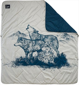 ThermaRest Argo Blanket Thermal Camping Blanket, Wolf Print