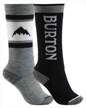 Burton Weekend Midweight 2PK Kid's Ski/Snowboard Socks, S/M Black