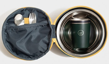 United By Blue The Meal Kit Eco-Friendly Travel Tableware, Blue Slate