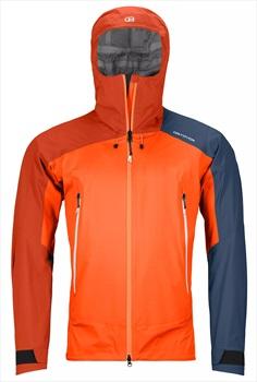 Ortovox Westalpen 3L Waterproof Shell Jacket, XL Burning Orange