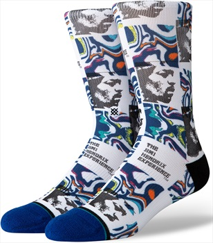 Stance Jimi Hendrix Skate/Crew Socks, M Hendrix Dissolved