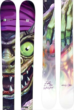 Armada Edollo Skis 180cm, Black/Green/Purple, Ski Only, 2021