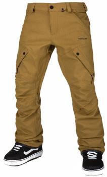 Volcom Adult Unisex Articulated Men's Ski & Snowboard Pants, S Burnt Khaki