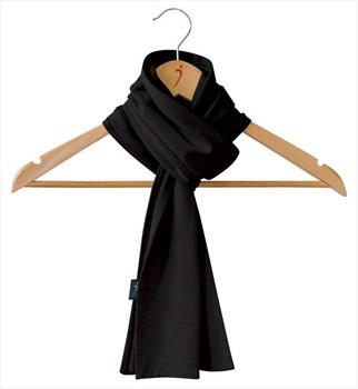 Silkbody Silkspun Women's Silk Scarf, Black