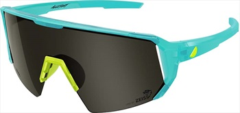Melon Adult Unisex Alleycat Smoke Performace Sunglasses, M/L Turquoise/ Yellow