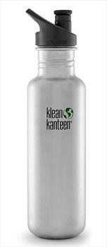 Klean Kanteen Classic Water Bottle 800ml Brushed Steel Sports Cap