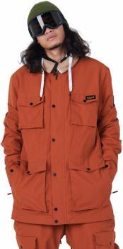 Planks X Woodsy 'Yeah Baby' Ski/Snowboard Jacket, L Burnt Orange