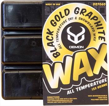 Demon Black Gold Graphite Snowboard Base Wax, 133g Black