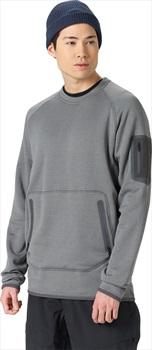 Burton [ak] Piston Crew Thermal Fleece Pullover, XS Faded Heather