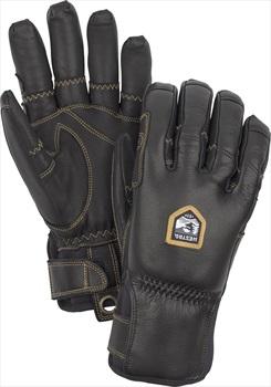 Hestra Ergo Grip Incline Leather Ski/Snowboard Gloves, M Black