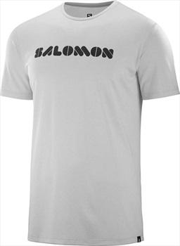 Salomon Men's Agile Short Sleeve Running T-shirt, XL Lunar Rock
