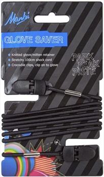 Manbi Glove Saver Ski/Snowboard Glove Leash, One Size Black