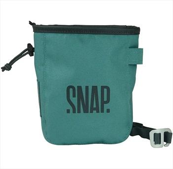 Snap Pocket Zip Rock Climbing Chalk Bag, 17 X 13 X 7 Cm, Green