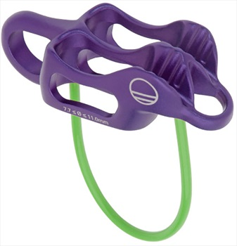 Wild Country Pro Guide Lite Rock Climbing Belay Device, Purple/Green