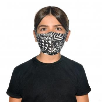 Buff Filter Kid's Protective Reusable Face Mask One Size Bawe Black