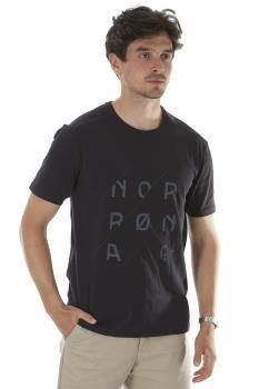Norrona Adult Unisex /29 Slant Short Sleeve Logo T-Shirt, L Caviar Black