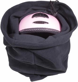 Manbi Supa-Soft Microfleece Drawstring Ski/Snowboard Helmet Bag, Black