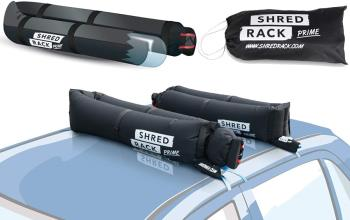 Shred Rack Prime X4 PES Straps Inflatable Car Roof Rack, One Size Black