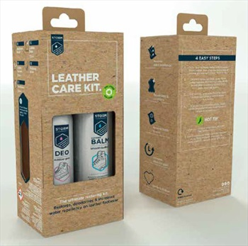 Storm Care Ultimate Leather Care Kit Footwear Deodoriser & Wax Kit