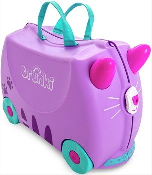 Trunki Cassie The Cat Kid's Wheeled Hand Luggage, 18L Purple