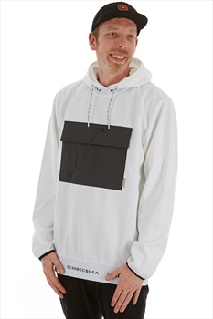 DC Adult Unisex Commuter Fleece Pullover Ski/Snowboard Tech Hoodie, S White