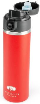 GSI Outdoors Microlite Flip Vacuum Insulated Bottle, 500ml Red