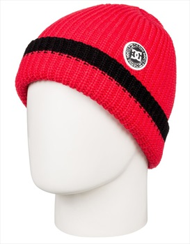DC Backside Ski/Snowboard Beanie Hat, One Size Racing Red