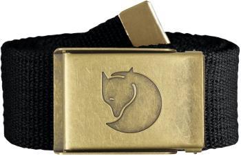 Fjallraven Canvas Brass 4cm Adjustable Webbing Belt, Black