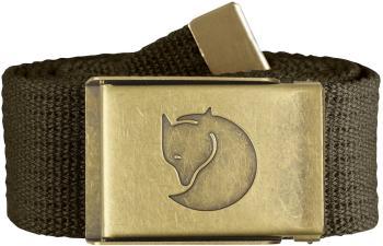 Fjallraven Canvas Brass 4cm Adjustable Webbing Belt, Dark Olive
