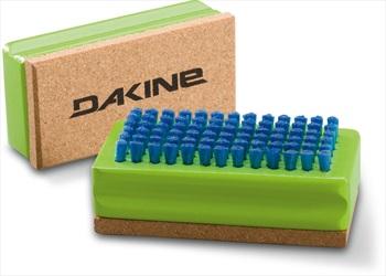 Dakine Nylon/Cork Tuning Snowboard/Ski Base Brush Tool, 10x5cm Green