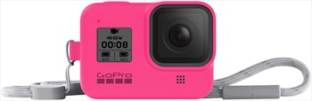 GoPro Hero 8 Black Sleeve + Lanyard Accessory, Electric Pink