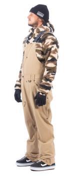 Bonfire Adult Unisex Reflect Bib Ski/Snowboard Pants, M Desert
