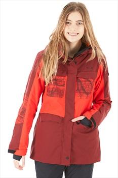 Oakley Moonshine 2.0 Women's Snowboard/Ski Jacket, S Oxblood Red