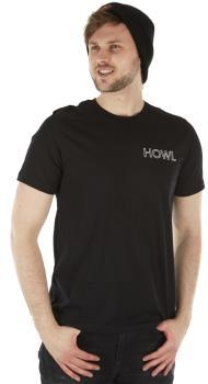 Howl Logo Short Sleeve Cotton T-Shirt, L Black