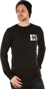 Howl Logo Long Sleeve Cotton T-Shirt, XL Black