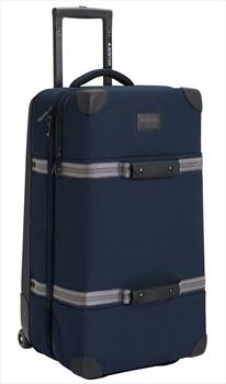 Burton Wheelie Double Deck Luggage Travel Bag, 86L Dress Blue Waxed