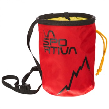 La Sportiva LSP Rock Climbing Chalk Bag, One Size Red