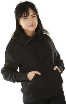 FW Root Pillow Women's Pullover Midlayer Fleece, S Slate Black