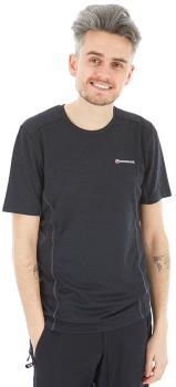 Montane Adult Unisex Dart Technical Short Sleeve T-Shirt, S Black