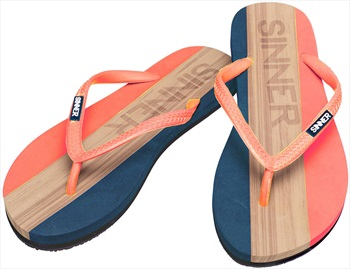 Sinner Capitola Women's Flip Flops, UK 6.5 / EU 40 Coral/Light Brown