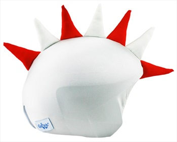 Coolcasc Show Time Ski/Snowboard Helmet Cover, Red/White Dragon