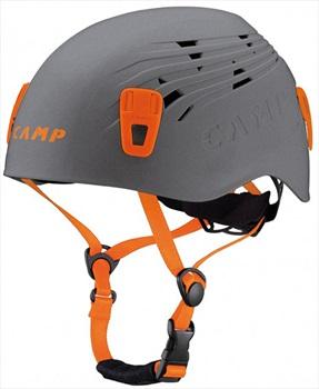 CAMP Titan Rock Climbing Helmet, 48-56cm, Grey/Orange