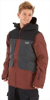 Planks Tracker Snowboard/Ski Jacket, L Maroon
