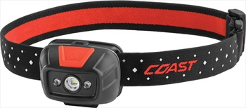Coast FL19 Headlamp IPX4 LED Head Torch, 330 Lumens Red