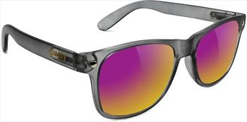 Glassy Sunhaters Leonard Sunglasses Dark Grey Purple Mirror Lens
