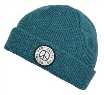 Planks Adult Unisex Peace Ski/Snowboard Beanie, One Size Midnight Teal