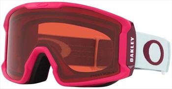 Oakley Line Miner XM Prizm Rose Ski/Snowboard Goggles, M Red Jasmine