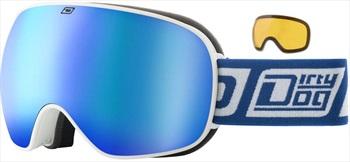 Dirty Dog Mutant 0.5 Blue Fusion Kids' Snowboard/Ski Goggles, M White