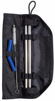 United By Blue Reusable Straw Kit Stainless Steel Straw Set, Os Black