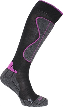 Horizon Wintersport Technical Merino Socks UK 3.5-6 Black/Cerise